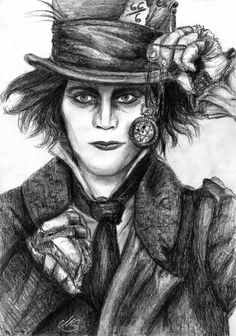 Ville Valo as Mad Hatter ( HIM ) Original Format: DIN A 4 Tools: 1504 KOH-I_NOOR 24 Graphite Pencils Creation Year: 2011