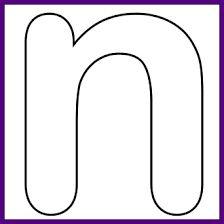 Afbeeldingsresultaat voor kleine letter n