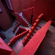 We see red / #architecture #staircase #red
