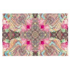 KESS InHouse Danii Pollehn 'Indian Clash' Pink Multicolor Dog Place Mat, 13' x 18' >>> Check out this great image  : Dog food container
