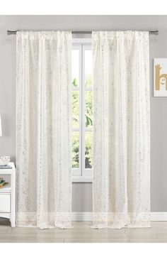European Curtains for Living Room Delicate Embroidery Mild Luxury Metal Grommet Top Luxurious Royal Style Window Panels Window Treatment for Living Room 1 Piece 39x84 inch