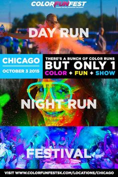 Chicago's Daytime + Nighttime Color Run & Festival is Coming on 10/3!