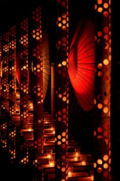 Umbrella lanterns at Yamaga Onsen in Kumamoto, Japan. Photography by Chun 2 on photohito Japanese Restaurant Design, Restaurant Interior Design, Chinese Restaurant, Kumamoto, Japanese Landscape, Japan Design, Japanese Culture, Japanese Sake, Turning Japanese