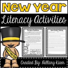 New Years Activities, Literacy Activities, 2nd Grade Reading Worksheets, Happ New Year, Reading Comprehension, Teacher, News, Free, Winter
