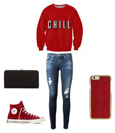 """""""#16"""" by anna2167 ❤ liked on Polyvore featuring AG Adriano Goldschmied, Converse and Urban Expressions"""