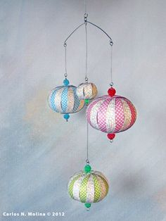 Baby Mobile  Paper Ornament DIY  Set of 3 by PaperArtbyCNM on Etsy, $6.50