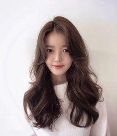 Medium Long Hair, Long Layered Hair, Medium Hair Styles, Curly Hair Styles, Pelo Ulzzang, Ulzzang Hair, Korean Long Hair, Asian Hair, Hair Korean Style
