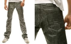 Metallic Jeans for Men
