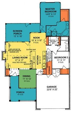 Cottage Plan: 1,425 Square Feet, 2 Bedrooms, 2 Bathrooms - 4848-00152