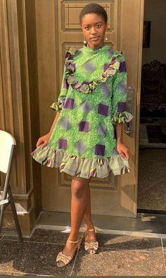 Trending Ankara Short Gown Styles For Smart and Sassy Looks - Stylish Naija Unique Ankara Styles, Ankara Short Gown Styles, Short Gowns, African Print Fashion, African Style, Sassy, Fashion Dresses, Stylish, Wedding Dresses