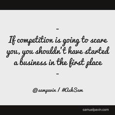 Why fear competition? Just face it and overcome it! #business