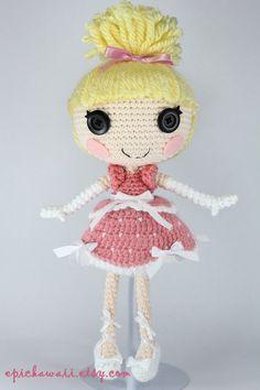 LALALOOPSY Cinder Slippers Crochet Amigurumi Doll by Npantz22.deviantart.com on @deviantART