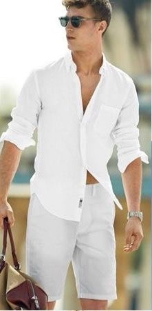 Mens All White Outfit Ideas Collection Mens All White Outfit Ideas. Here is Mens All White Outfit Ideas Collection for you. Mens All White Outfit Ideas mens fashion what did men wear in White Outfit For Men, White Outfits, J Crew Style, Men With Street Style, Style Men, Herren Outfit, J Crew Men, Summer Outfits, Party Outfits