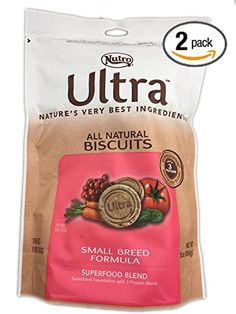 Nutro ULTRA All Natural Biscuits Small Breed Formula Superfood Foundation with 3 Protein Blend 16 Ounce Bags 32 Total Ounces * To view further for this item, visit the image link. (This is an affiliate link) Dog Snacks, Dog Treats, Protein Blend, Best Dog Food, Small Breed, Superfood, Doggies, Pet Dogs, Dog Food Recipes