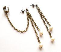 Ear cuff set med odlade pärlor från Lady of the Lake Smycken http://ladyofthelake.se