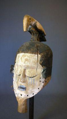 Congo, African Masks, Indigenous Art, Fibres, Tribal Art, Face, Collection, Belgium, Woodwind Instrument