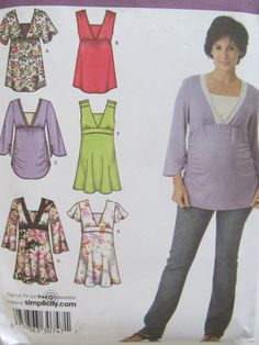 Simplicity 3762 Plus size Maternity Tops Sewing by Lacywork
