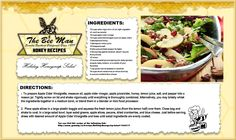 Happy Holidays! Here's a great honey salad recipe to take to a holiday celebration or enjoy at home!