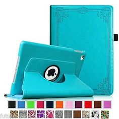 iPad 2/3/4 iPad Air 2 360 Degree Rotating Leather Case Cover Smart Sleep/Wake
