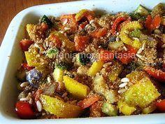 contorno di verdure Raw Food Recipes, Vegetable Recipes, Italian Recipes, Dinner Recipes, Cooking Recipes, Healthy Recipes, Antipasto, I Love Food, Good Food