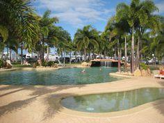 Big 4 caravan park pool, Rollingstone, north of Townsville, Qld.