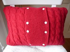sweater pillow (and mittens)