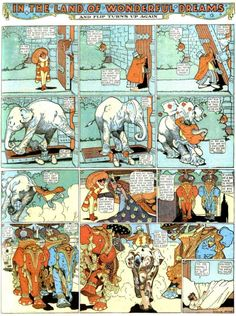 Winsor McCay – Little Nemo in Slumberland- In The land of Wonderful Dreams- 1908-1910.