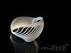 Printed plastic (with 3d printer) - Moiré cuff by bobo miette