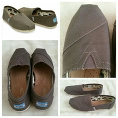 TOMS Classic Canvas Slip On-Womens Color ash grey. Size 9.5 women. Brand new with tag. (Display item the sole of the shoe will look like it's been walked on because it's a display item and just been tried on. .I took a picture of it. But it's new. ..Tom is true to size TOMS Shoes Flats & Loafers