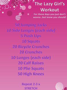 Kickstart Workouts: Lazy Girl Workout
