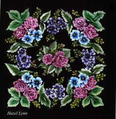 One Stroke Flowers .Hazel Lynn.