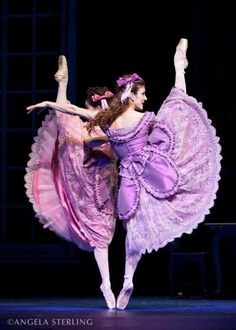 Megan Zimny Gray & Nadia Yanowsky as The Step Sisters in Christopher Wheeldon's 'Cinderella' ~ Photo by Angela Sterling Ballet Art, Ballet Dancers, Dance Photos, Dance Pictures, Ballet Costumes, Dance Costumes, La Bayadere, Female Dancers, Dance Like No One Is Watching