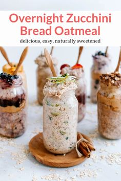 This amazing overnight oatmeal recipe tastes just like zucchini bread and can be prepped in advance. Naturally sweetened and packed with flavor. Perfect for breakfast, this healthy recipe from Slender Kitchen is MyWW SmartPoints compliant and gluten free, vegan and vegetarian. #kidfriendly #makeahead #quickandeasy Breakfast Recipes, Breakfast Ideas, Morning Breakfast, Figs Breakfast, Mexican Breakfast, Breakfast Sandwiches, Breakfast Pizza, Vegetarian Breakfast, Breakfast Cookies