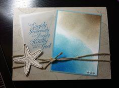 Trust God By the Seashore beach card