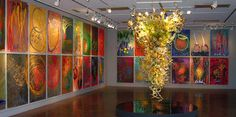 A Dale Chihuly exhibit at the Colorado Springs fine arts center. I am a huge admirer of his glasswork and lighting installations.