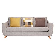 G Plan Vintage The Sixty Seven Large Sofa, Marl Grey
