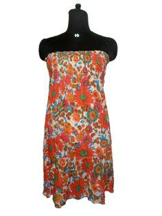 adorable floral printed casual wear stylish western dress tunic kurti