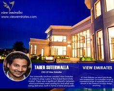 """Taher Suterwalla : """"Home is not a place, it's a feeling."""""""