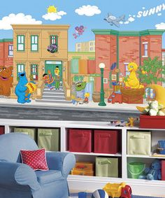 Another Great Find On #zulily! Sesame Street Chair Rail Pre Pasted Mural By Part 60