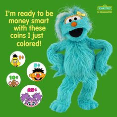 Teach your little one what it means to save and the value of money. For free Sesame Street preschool financial education resources: www.sesamestreet.org/save