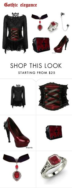 """Gothic Elegance"" by artasshine ❤ liked on Polyvore featuring HADES and…"