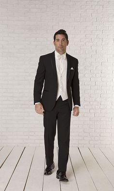 Trim Fit Tuxedo for Groom with Diamond White Accessories! Tuxedo, Groom, Formal, Diamond, Fitness, Accessories, Style, Fashion, Preppy