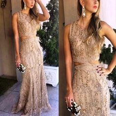 Champagne prom dress, Vintage prom dress, Beading prom dress, Sparkly prom dress, Junior prom dress, Charming prom dress, Evening Party Gowns, Elegant Prom Dresses. PD0121164
