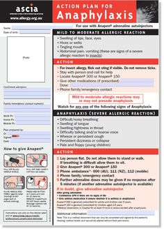 ASCIA Action Plan for Anaphylaxis (general) for use with ...