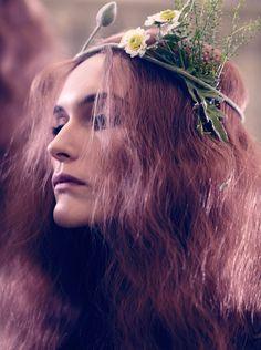 flower power: julia, lone, fia, mona, stina, emelie, miranda, maja, erik and viggo by viktor flume for elle sweden march 2015