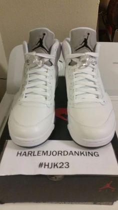hot sale online 7a576 74932 Nike Air Jordan 5 Men s Leather Basketball Shoes   eBay