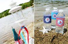 Rustic Nautical Party. #AAE #PartyIdeas #Nautical www.ashleyadrienevents.com