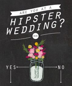 Infographic: Are You At A Hipster Wedding