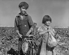"""""""Children and Sugar Beets"""" By L. Harmon, Hall County, Nebraska, October 1940 National Archives and Records Administration, Records of the Office of the Secretary of Agriculture [VENDOR # American History, American Girl, Native American, Kids Survival Skills, Vintage Children Photos, Vintage Kids, Vintage Style, Legacy Projects, Dust Bowl"""