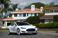 Model S in White, The New Kid on the Block